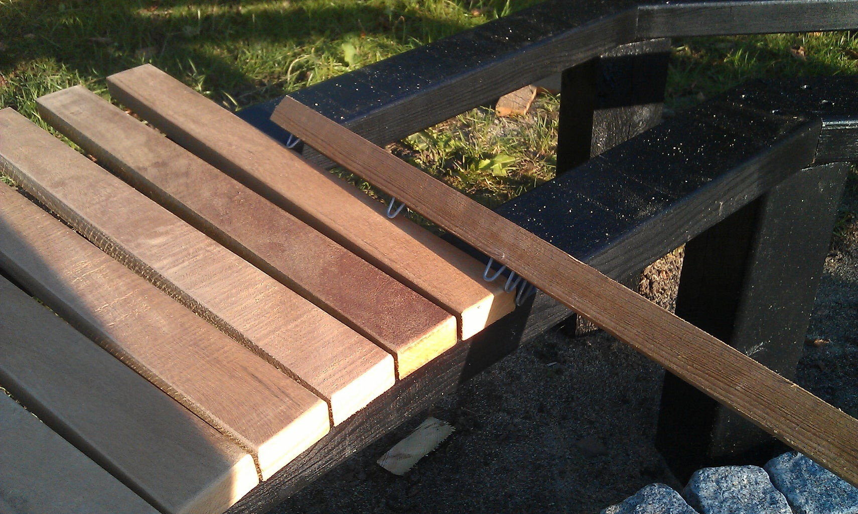Placing the Hard-wood Rods