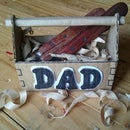 Father's Day Gift Box Toolbox From Cardboard