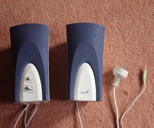 Convert a Genius Speaker to Run on 9 Volt Baterys.