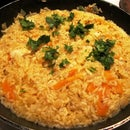 Saffron Rice with Tofu