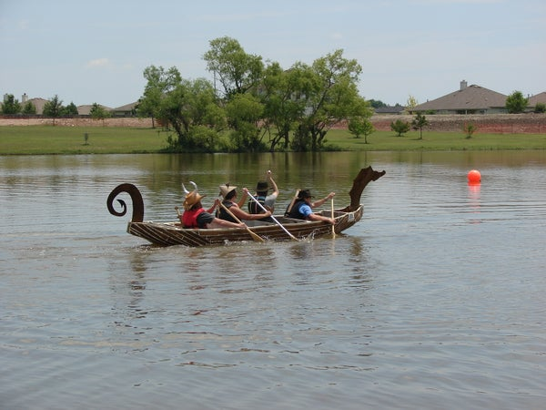 Cardboard Viking Longship and Cardboard Boat Regatta