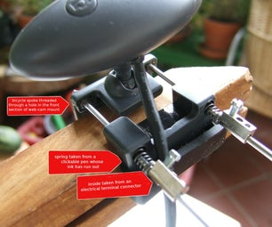 Web Cam Mount for Wider Objects