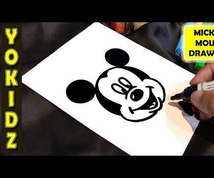 HOW TO DRAW MICKEY MOUSE FACE
