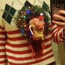 Festive Chestburster Ugly Christmas Sweater - ANIMATED!