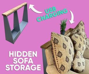 隐藏式沙发储藏室