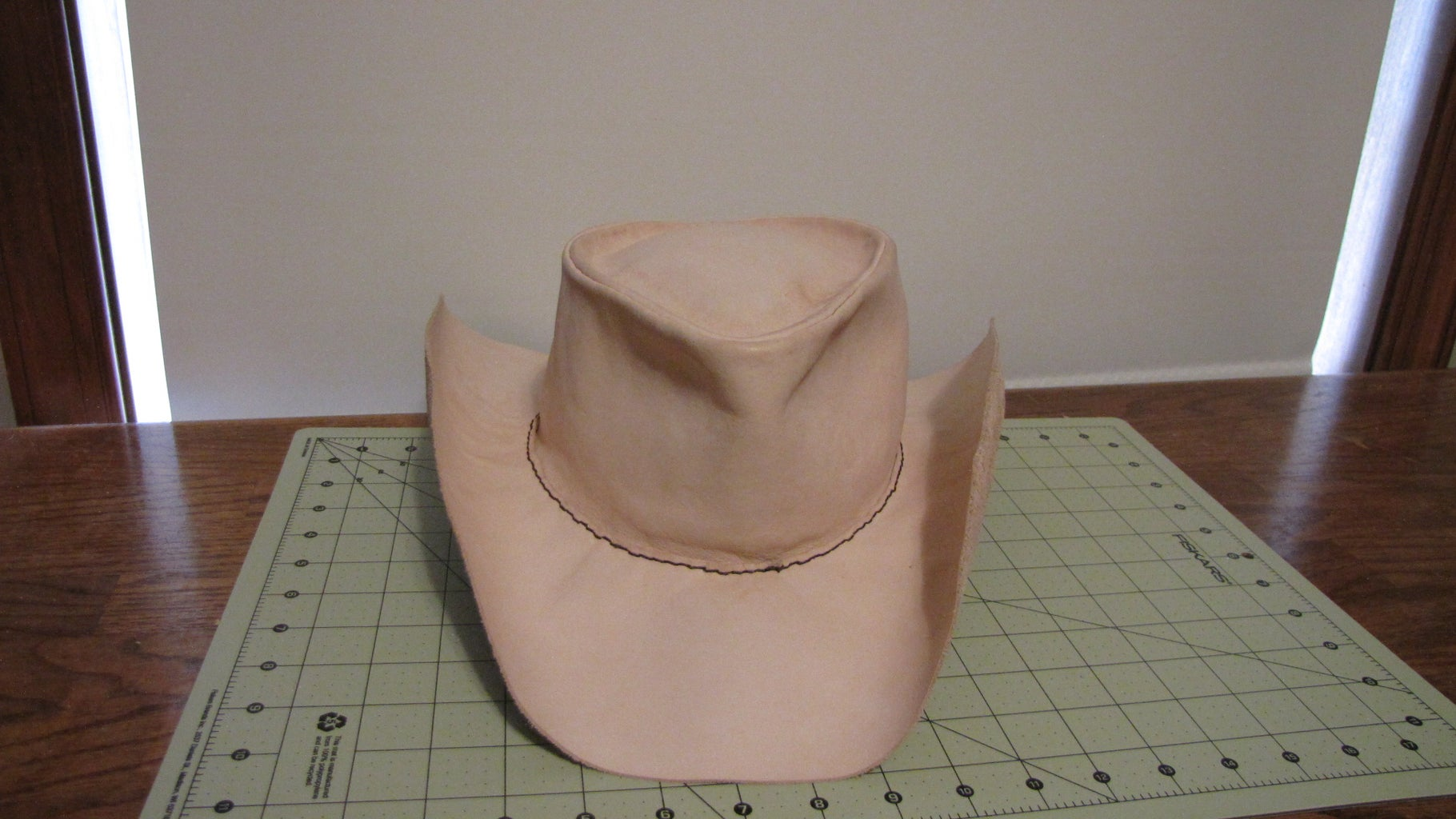 Stitching the Top of the Hat to the Brim