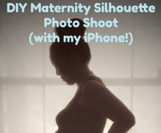 DIY Pregnancy Silhouette Photo with Your Phone!