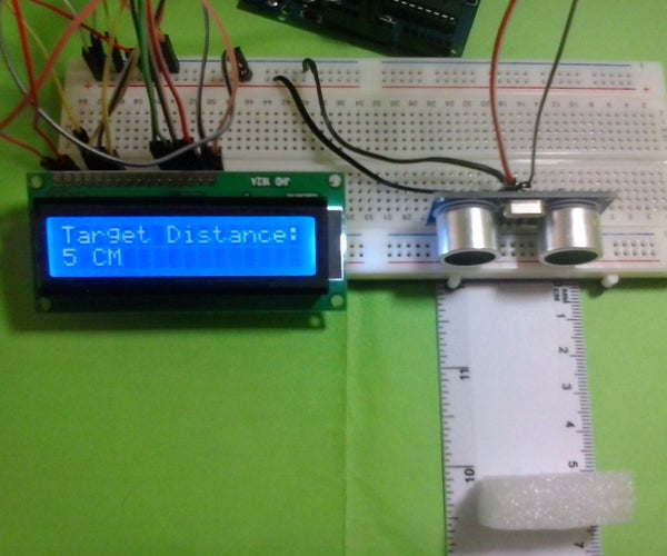 Arduino LCD Project for Measuring Distance