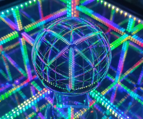 LED Infinity Cube End Table