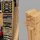 Adjustable Shelving for Part Bin Organizers