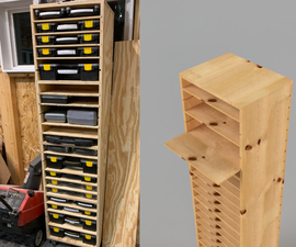 Adjustable Shelving for Part Bin Organizers