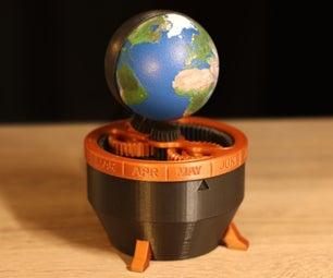 3D印刷地球时钟