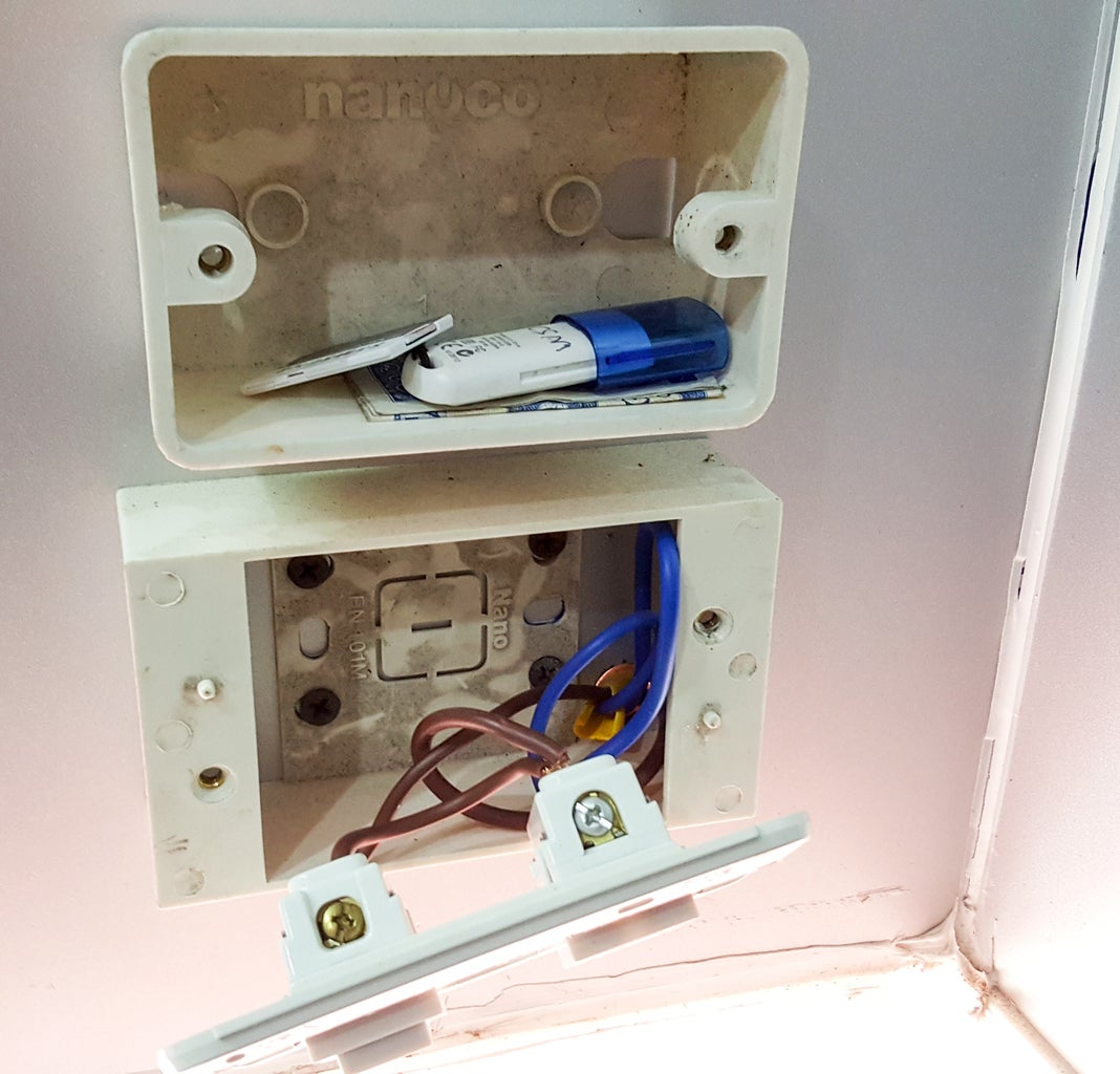 Hide Your Stuff With the  Fake Power Outlet