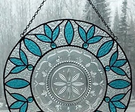 Crystal Plate and Stained Glass Hanging