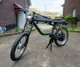 Electric Moped. Blade Runner Inspired Space Bike.