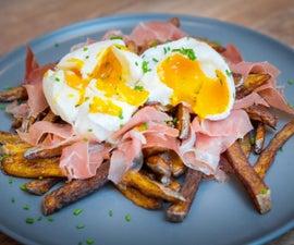 Spanish Broken Eggs (Huevos Rotos) With Jamon Serrano