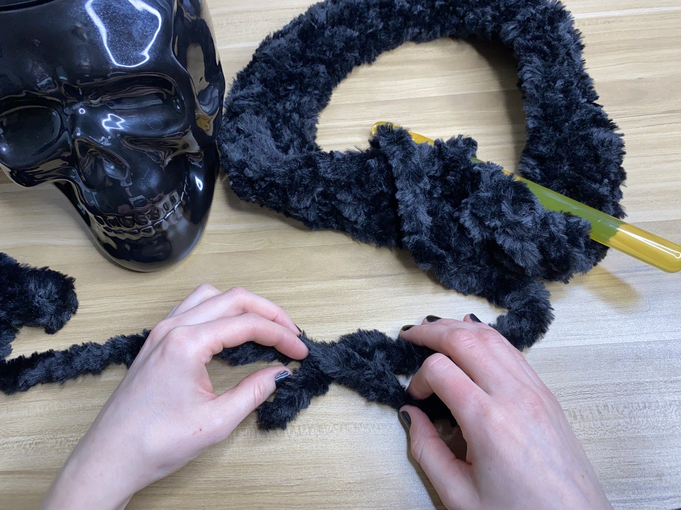 Connecting Two Skeins of Yarn Together