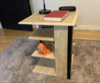 Bedside Table + Storage Shelves
