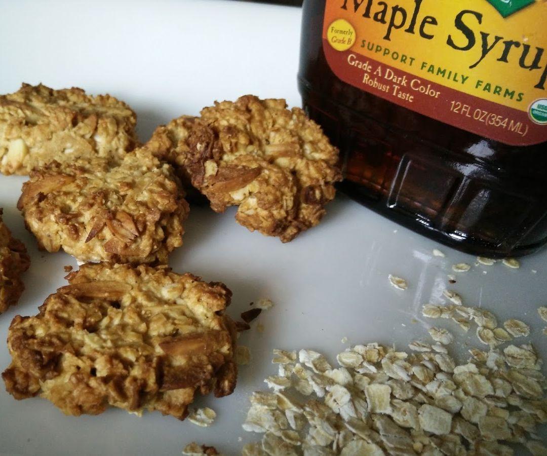Eggless Maple Oats Cookies