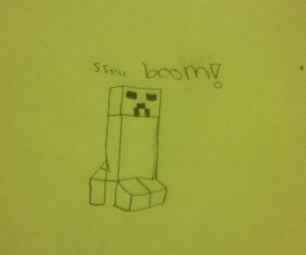 How to Draw a Creeper!