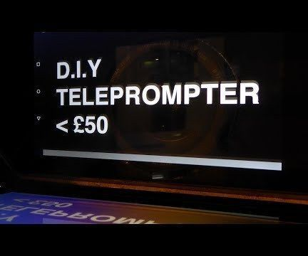 Teleprompter With True BeamSplitter Glass - Foldable (Video Guide)