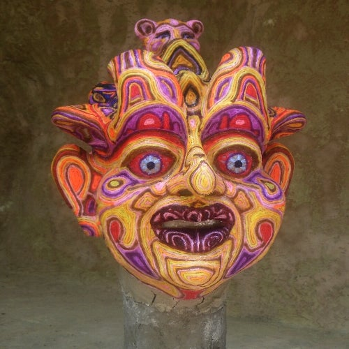 Yarn and Hot Melt Glue Mask