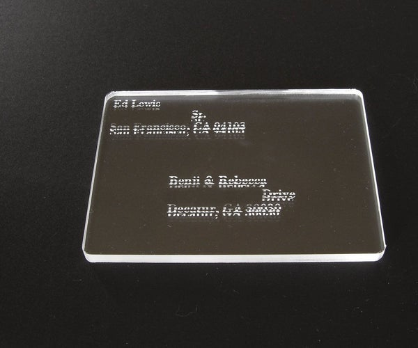 Split-Etched Acrylic Postcard - Optical Trickery