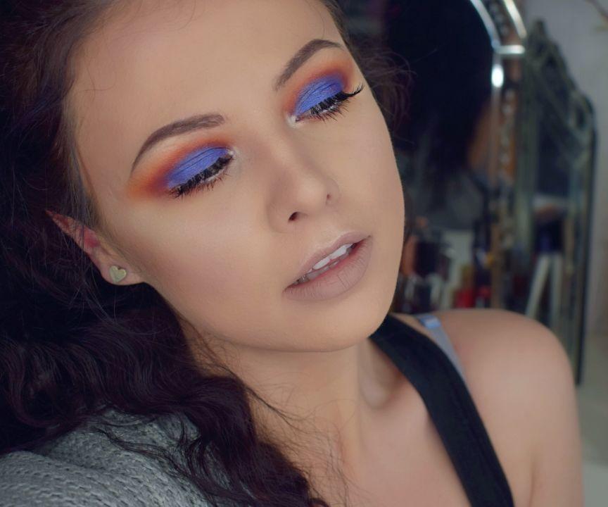 Royal Blue Smokey Eye - Morphe Jaclyn Hill Palette