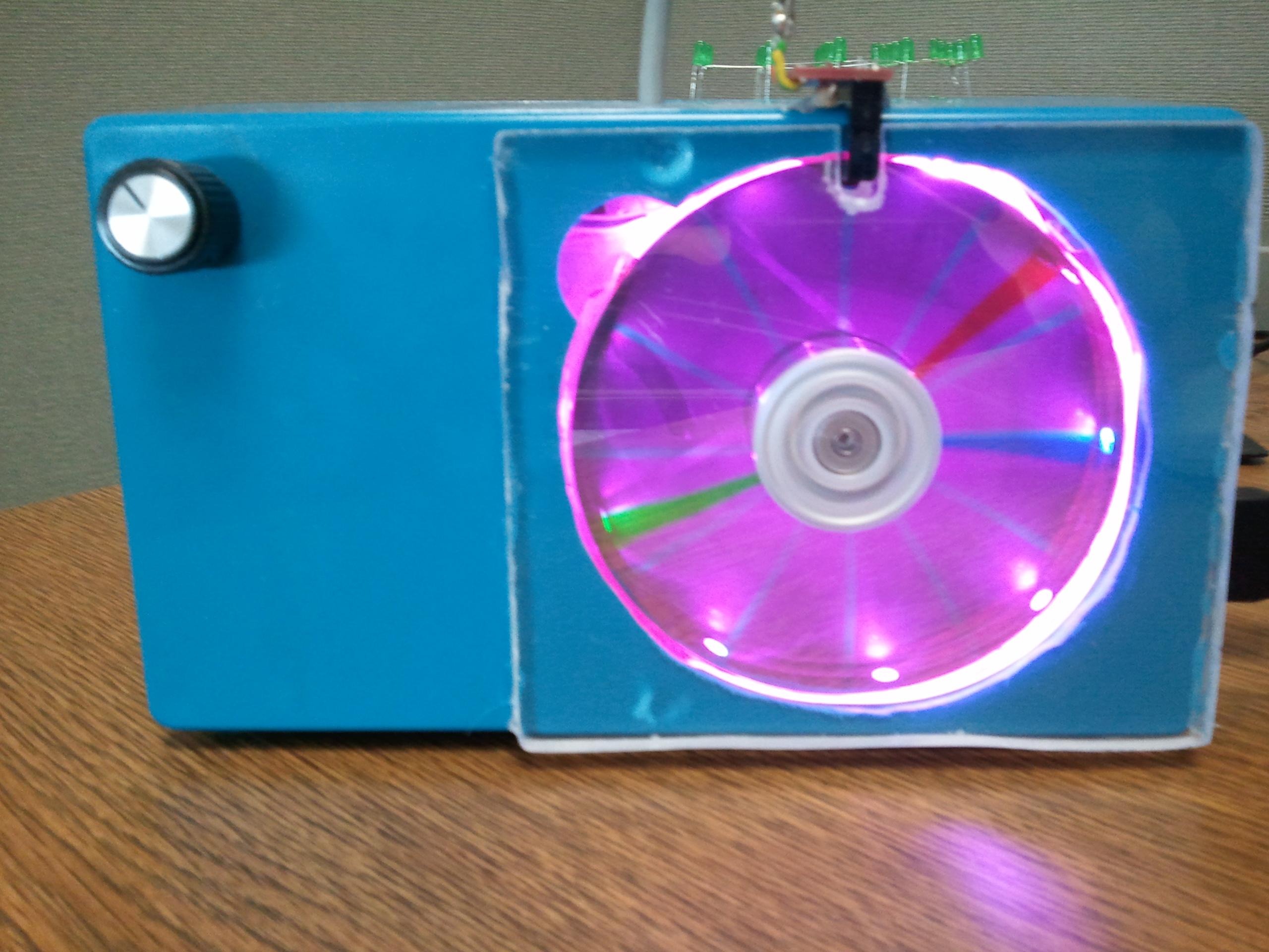 Arduino Analog Hard Drive POV Clock