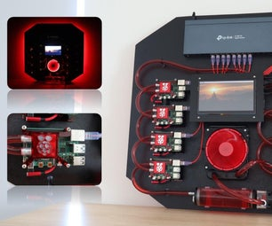 Water-Cooled Raspberry Pi 4 Cluster