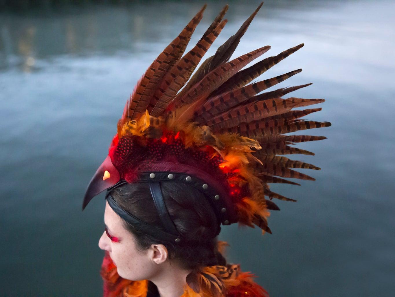 Phoenix Costume Headpiece