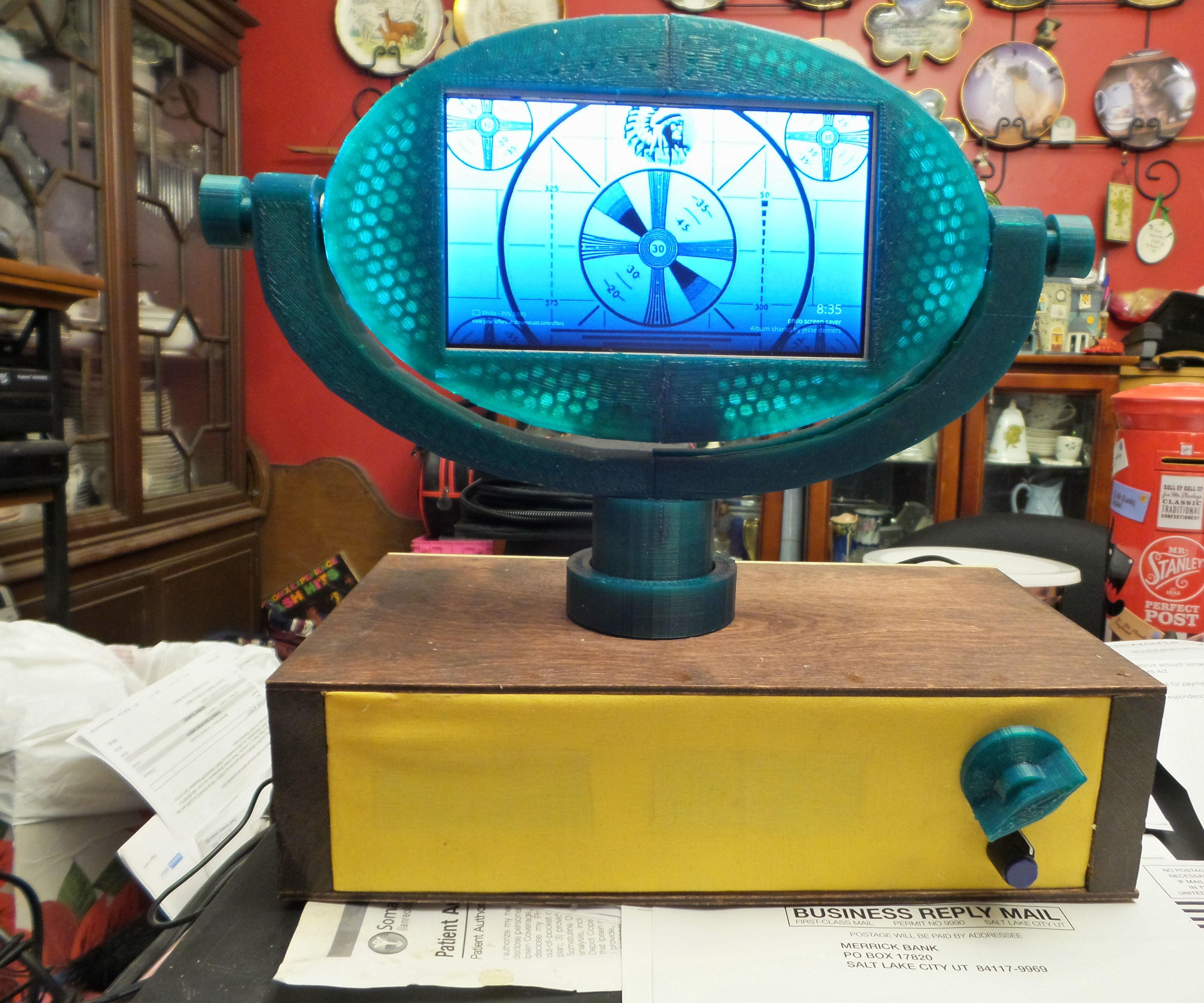 "Philo, the 7"" 3D printed retro TV"