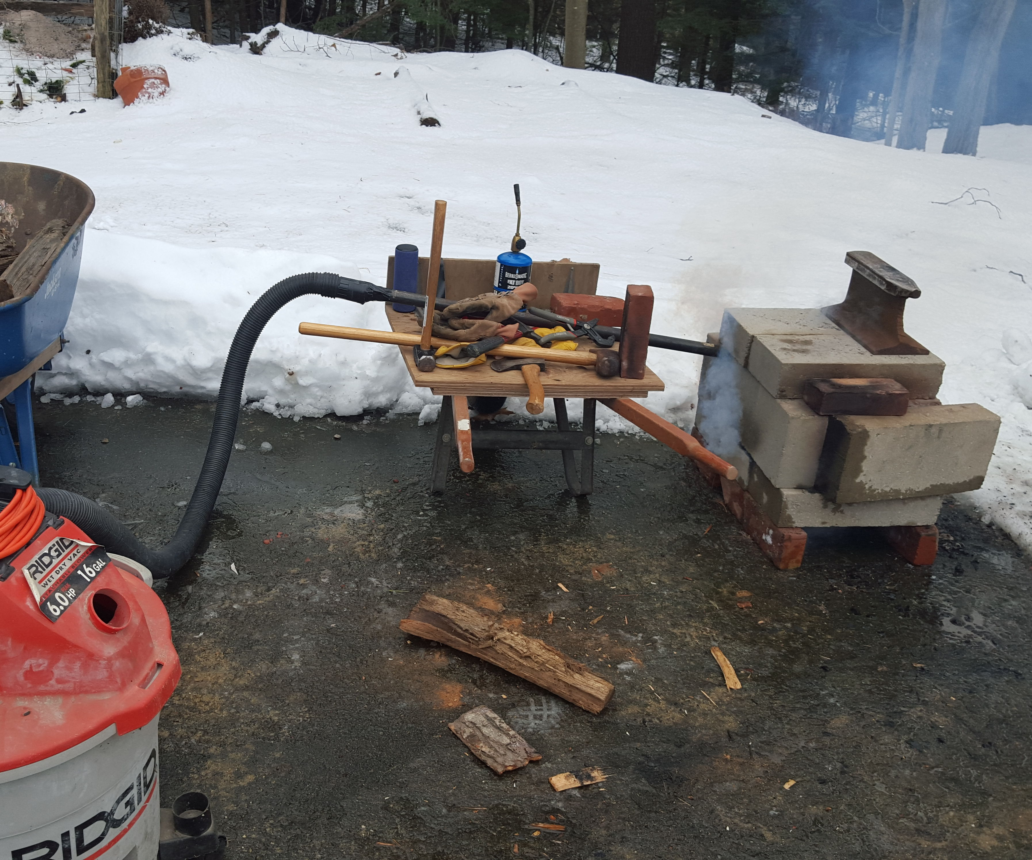 Cheap and Easy Backyard Forge