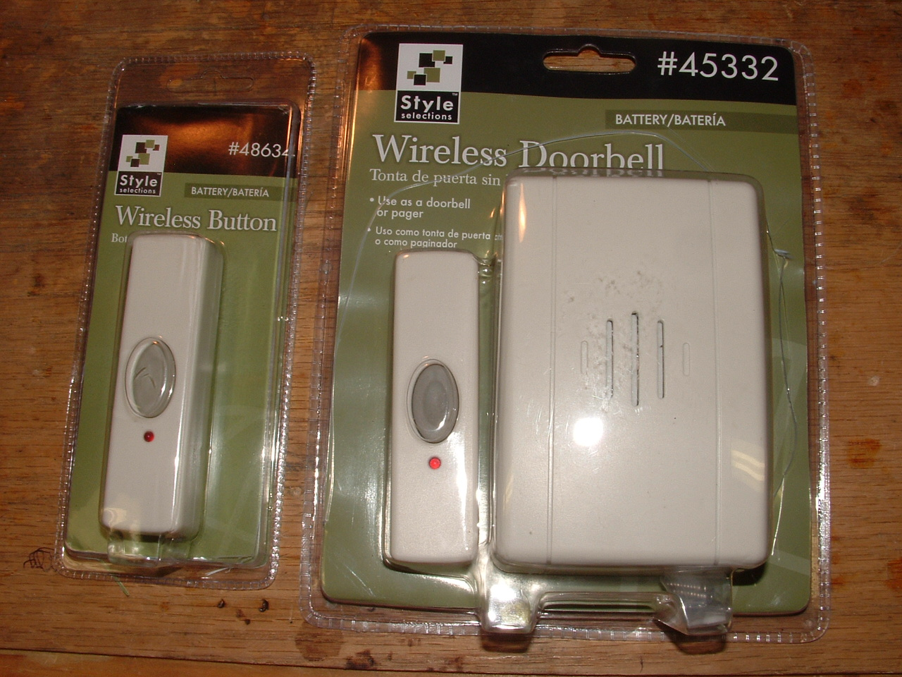 Hack a wireless doorbell into a wireless alarm switch or on/off switch