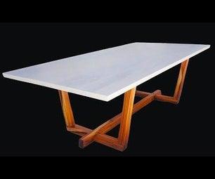 现代餐桌 - 传统的细木工
