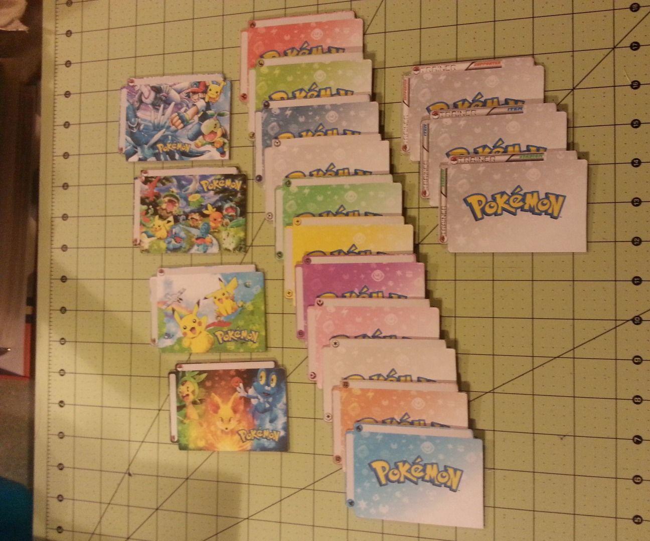 DIY CCG/TCG Card Dividers - Pokemon