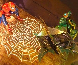 Life-Sized Spider-Man Themed Halloween Display