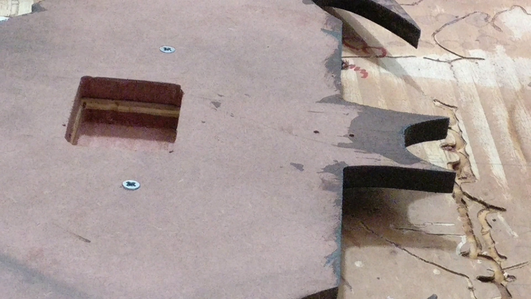 Machining at the Back for Clock Movement and Hardware Attachment for Hanging.