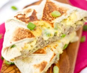 如何制作一个令人敬畏的早餐quesadilla