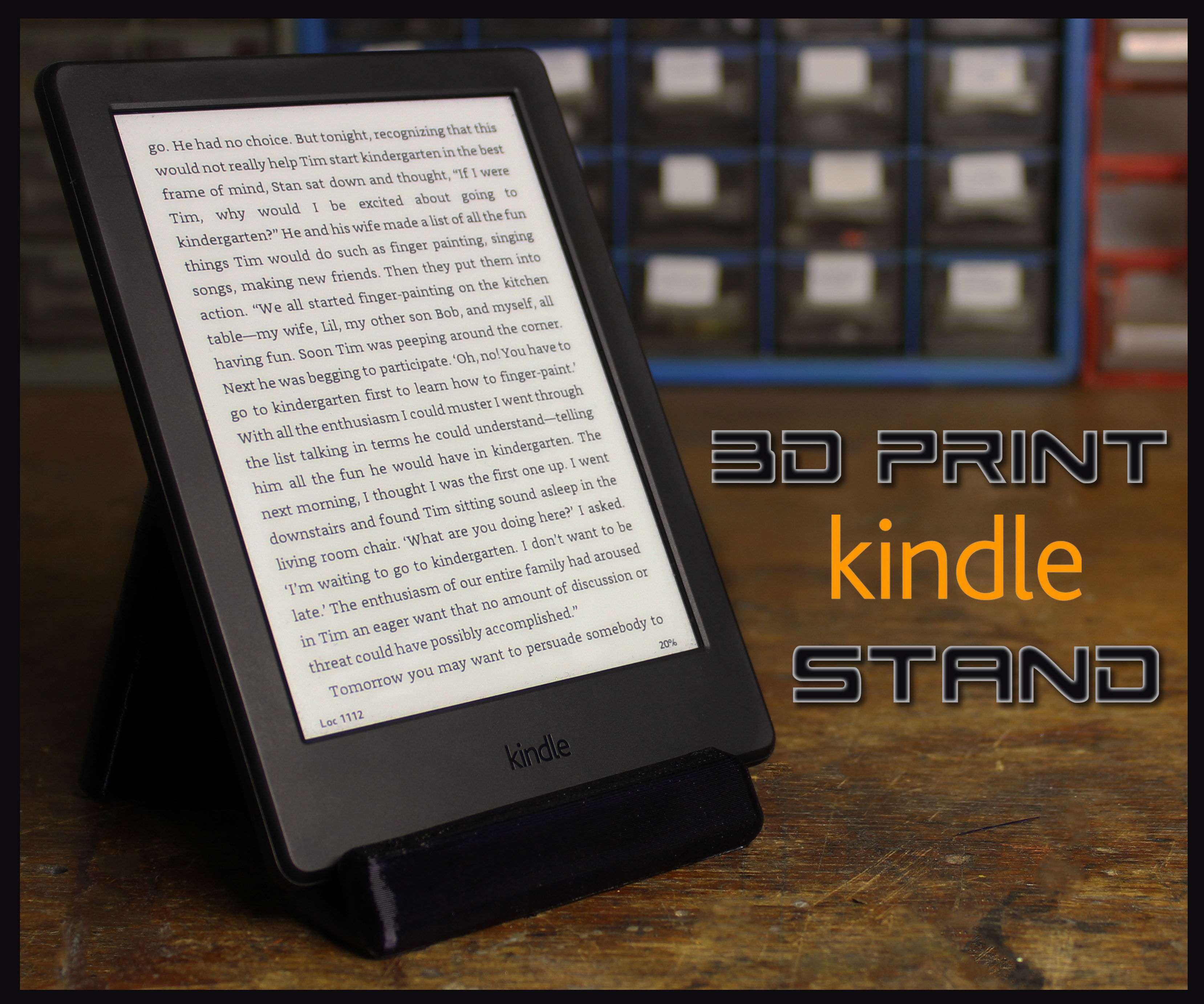 3D Print a Kindle Stand