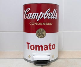 Campbell's Soup Trash Can