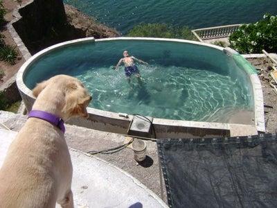 DIY Concrete Swimming Pool