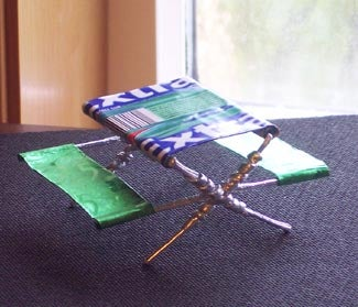 Miniature Picnic Table Using Gum Wrappers