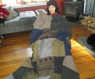 Felted Sweater Blanket