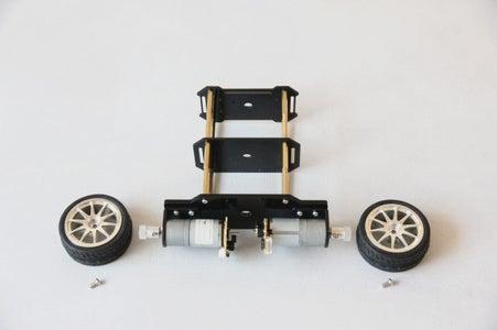 Install Encoder Motors and Wheels