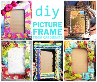 DIY PICTURE FRAME From Cardboard and Decorative Materials : 10