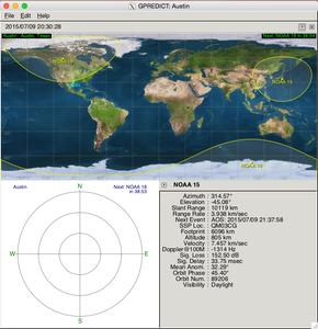 GPredict - Finding the Satellites