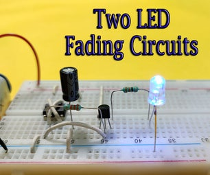 Two LED Fading Circuits   555 IC or Transistor