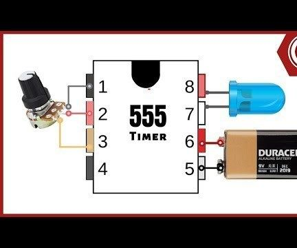 LED Dimmer Circuit With 555 Timer