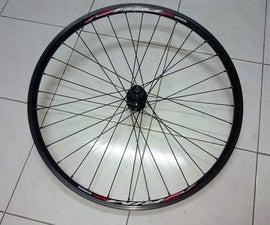 Lacing Bike Wheel : 36 Holes Hub to 32 Holes Rim